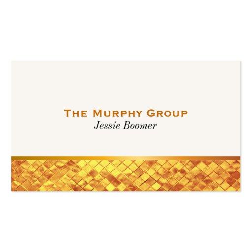 Lustre del oro tarjetas de visita