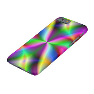 Lustre metálico colorido del fractal funda barely there iPhone 6