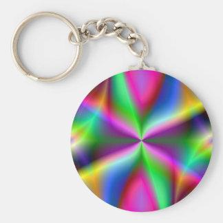 Lustre metálico colorido del fractal llavero redondo tipo pin