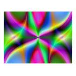 Lustre metálico colorido del fractal postal