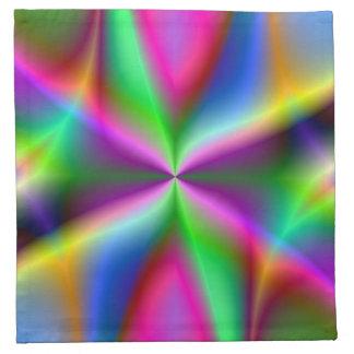 Lustre metálico colorido del fractal servilleta