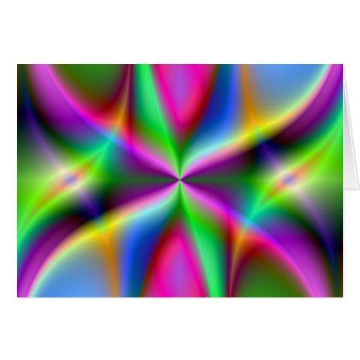 Lustre metálico colorido del fractal tarjeta de felicitación