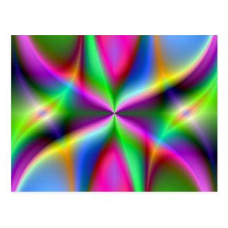 Lustre metálico colorido del fractal tarjeta postal
