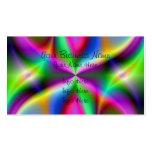 Lustre metálico colorido del fractal tarjetas de visita