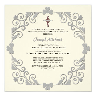 Lustrous Square Religious Invitation