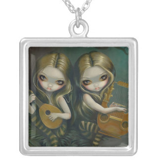 Lute and Lyre NECKLACE music fairy nymphs