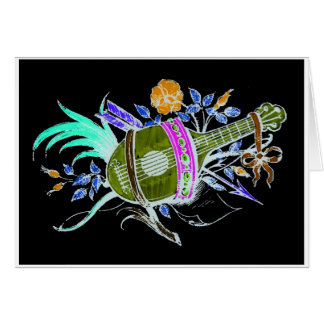 Lute and plants inversion cards