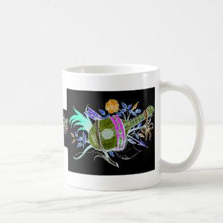 Lute and plants inversion classic white coffee mug