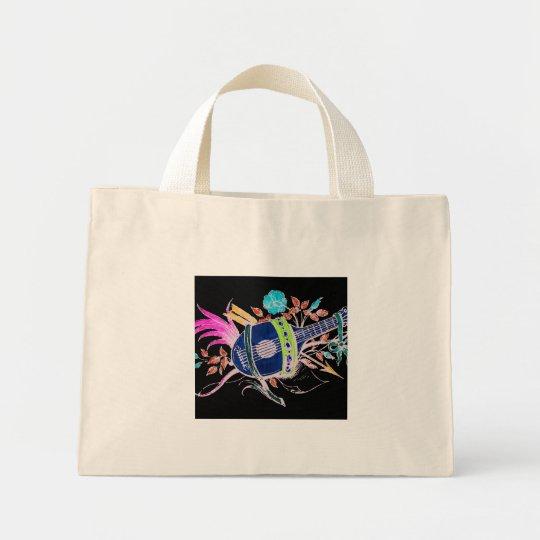 Lute and Plants inversion II Mini Tote Bag