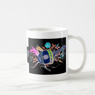 Lute and Plants inversion II Classic White Coffee Mug