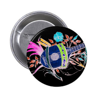 Lute and Plants inversion II Pinback Button