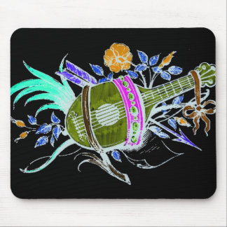 Lute and plants inversion mouse pads