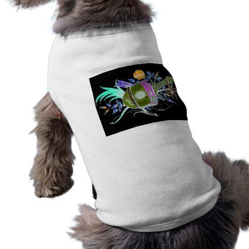 Lute and plants inversion pet t shirt