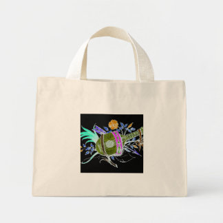 Lute and plants inversion tote bag