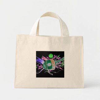 Lute and Plants, Pink inversion Tote Bags
