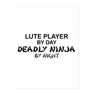Lute Deadly Ninja by Night Postcard