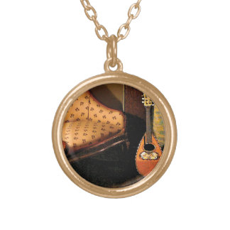 Lute Gold Plated Necklace