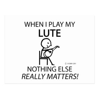 Lute Nothing Else Matters Postcard