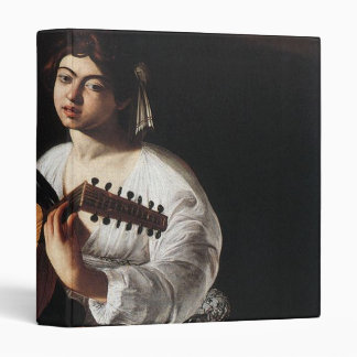 Lute Player 3 Ring Binder