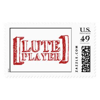 Lute Player Postage