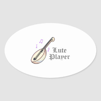 LUTE PLAYER OVAL STICKER
