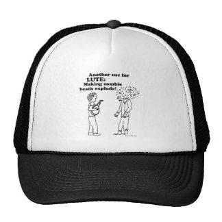 Lute Zombie Explode Trucker Hats