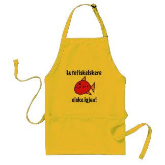 Lutefisk Lovers Last Longer Yellow Apron