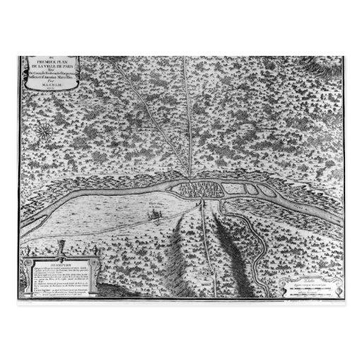 Lutetia o el primer plan de París Postales