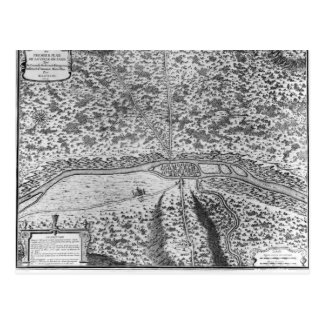 Lutetia or the first plan of Paris Postcard