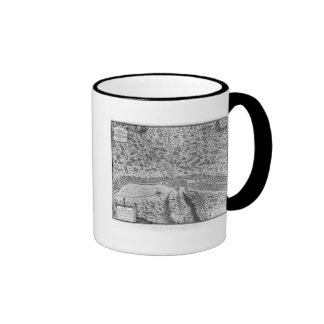 Lutetia or the first plan of Paris Ringer Coffee Mug