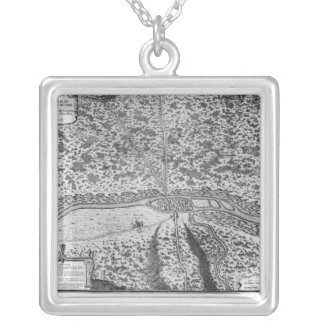 Lutetia or the first plan of Paris Square Pendant Necklace
