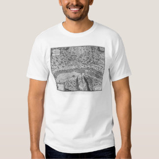 Lutetia or the first plan of Paris Tee Shirts