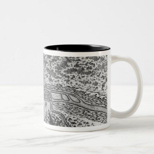 Lutetia or the first plan of Paris Two-Tone Coffee Mug