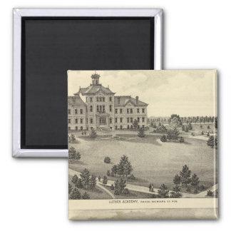 Luther Academy, Nebraska 2 Inch Square Magnet