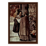 Luther And The Cardinal Gaetani Greeting Card