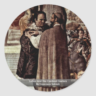 Luther And The Cardinal Gaetani Stickers