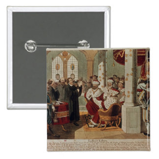 Luther at the Diet of Worms 2 Inch Square Button