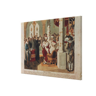 Luther at the Diet of Worms Canvas Print