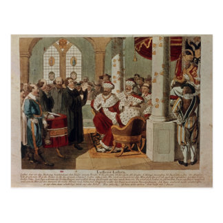 Luther at the Diet of Worms Postcard