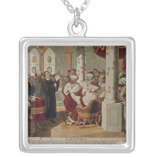 Luther at the Diet of Worms Silver Plated Necklace