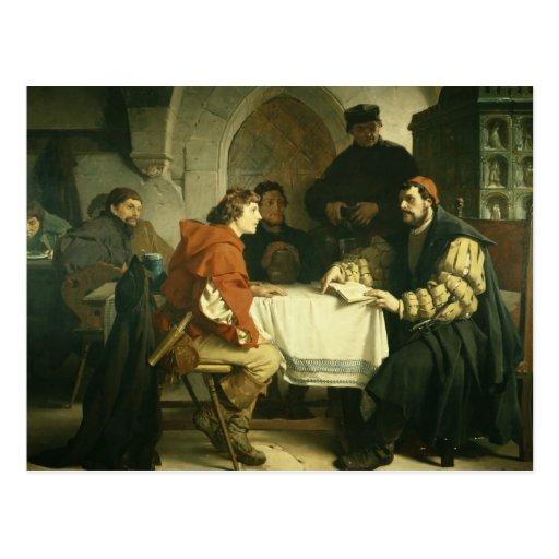 Luther at the 'Schwarzen Baeren' in Jena, 1873 Postcard