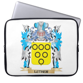 Luther Coat of Arms - Family Crest Laptop Sleeve