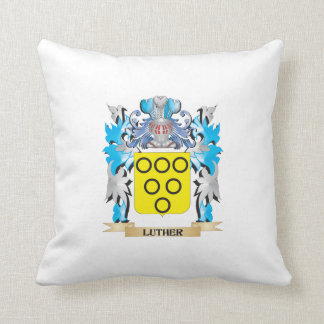 Luther Coat of Arms - Family Crest Throw Pillows