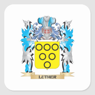 Luther Coat of Arms - Family Crest Square Stickers