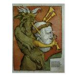 Luther como las gaitas del diablo, c.1535 postal