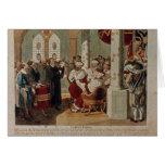 Luther en la dieta de gusanos tarjeta de felicitación