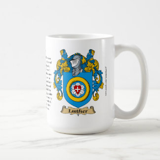 Luther Family Coat of Arms Mugs