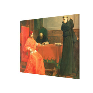 Luther in front of Cardinal Cajetan Canvas Print