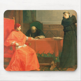 Luther in front of Cardinal Cajetan Mouse Pad