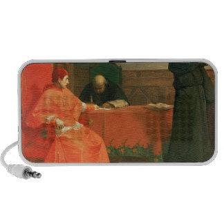 Luther in front of Cardinal Cajetan iPhone Speaker